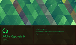Adobe Captivate 9 splash page