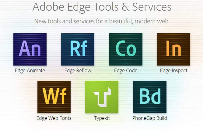 Adobe Edge Family of Products